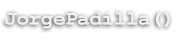 Jorge Padilla - Personal Website